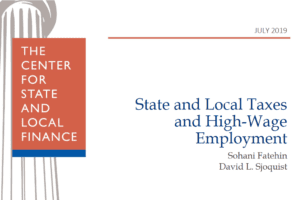New CSLF Working Paper: Taxes and High-Wage Employment